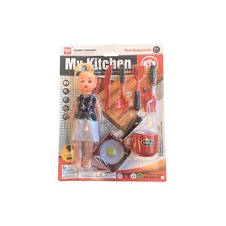 Kitchen set with doll (S)