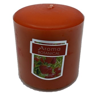 3x3 Pillar Candle - Red (Strawberry)