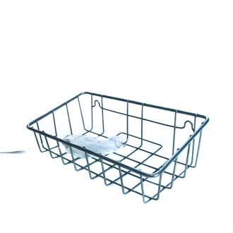 Chrome basket with suction hook
