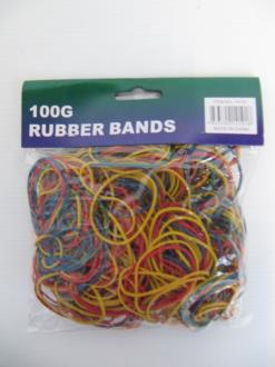 Rubber Bands Multi Color 100gr