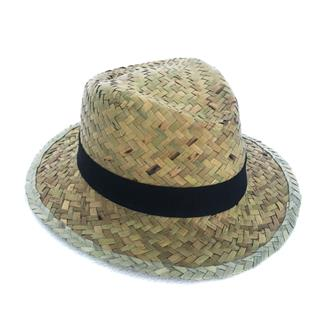 Flax Cowboy Hat with Black Band