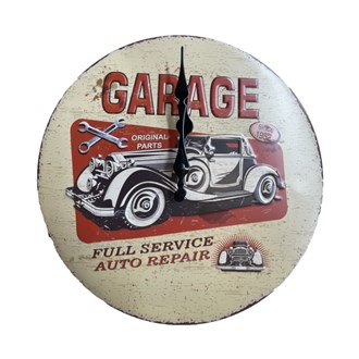 Metal Wall Clock - GARAGE