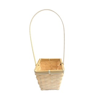 Bamboo Rectangular Basket with handle