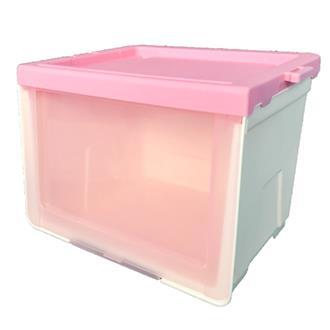 Cube Storage Box - Pink (transparent)