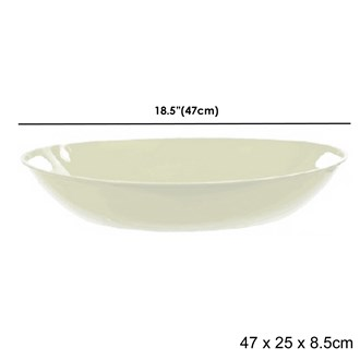 Deep Bowl Platter White 32x43.6cm