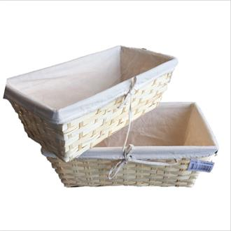 Bamboo Basket with fabric lining