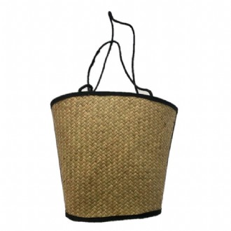Straw Bag with lining