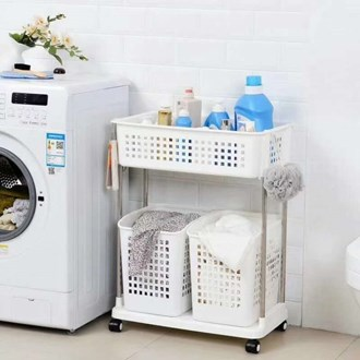 2 Laundry basket Trolley