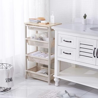 Wooden Top 3 Tier Trolley with drawer