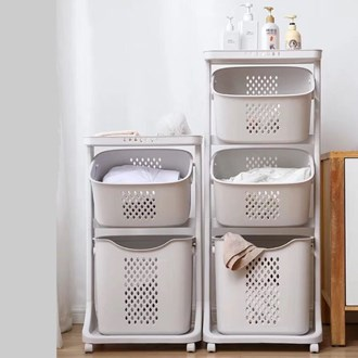 3 Tier Laundry trolley with removable basket