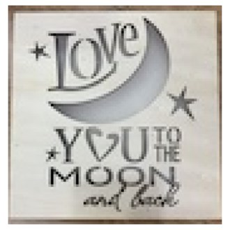 Love You To The Moon & Back Light Box