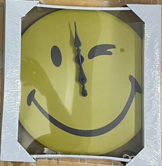 Metal Wall Clock - Smiley