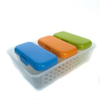 Rectangular Canister 3pcs set with tray