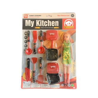 Kitchen Set with Doll