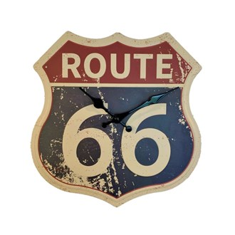 Metal Wall Clock - Route 66