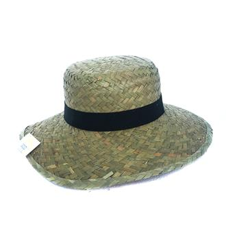 Flax Lady Hat 38cm W/Band Nral