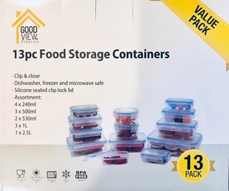 Clip lock food containers 13pcs set