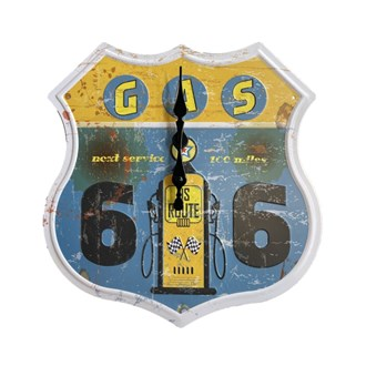 Metal Wall Clock - GAS