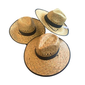 Flax Fishing Hat with black band-58mm