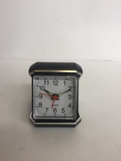 Alarm Clock with Case - Black