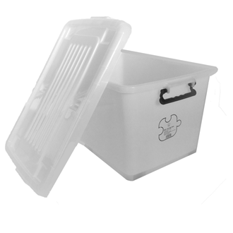 Storage box with wheels 80L