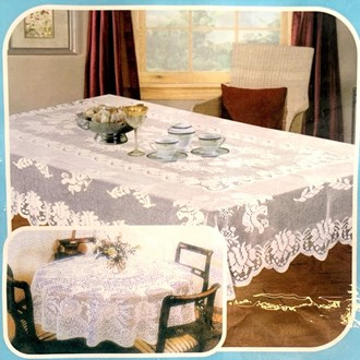 Lace Table Cloth 120x120cm